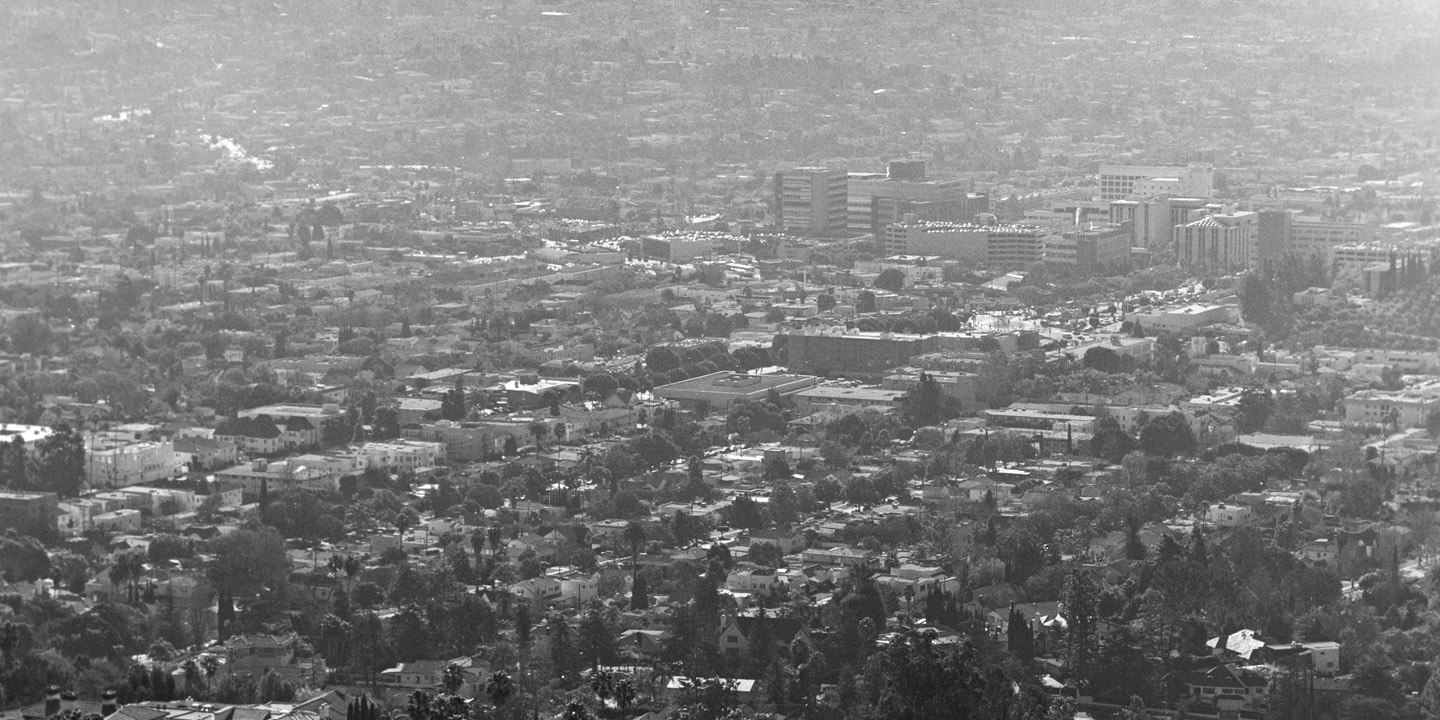 Bird's eye view of Greater Los Angeles