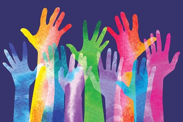 Photo of hands raised