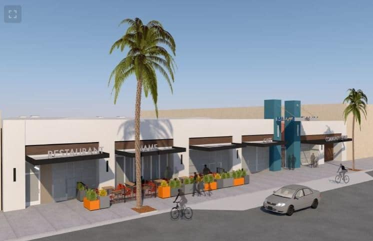 Rendering of new MHALA building on Long Beach Boulevard.