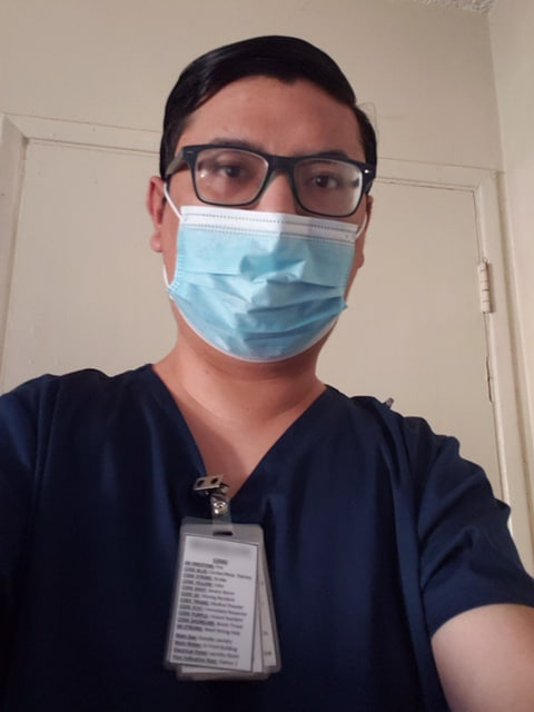 Nurse wearing a mask